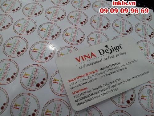In Decal tem vỡ tròn chất lượng cao làm tem bảo hành