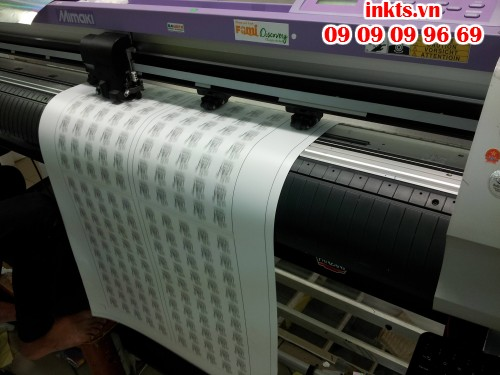 Gia công bế tem Decal vỡ, Decal các loại bằng máy bế Mimaki với công nghệ mắt thần, bế chính xác từng milimet