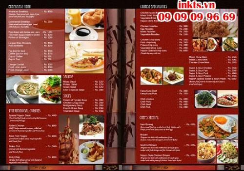 Thiết kế in menu nhà hàng
